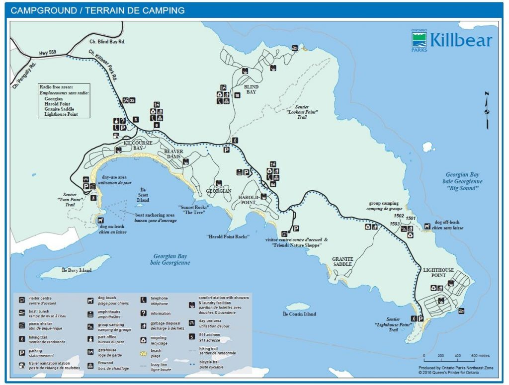 Killbear Provincial Park Map and Campground Map