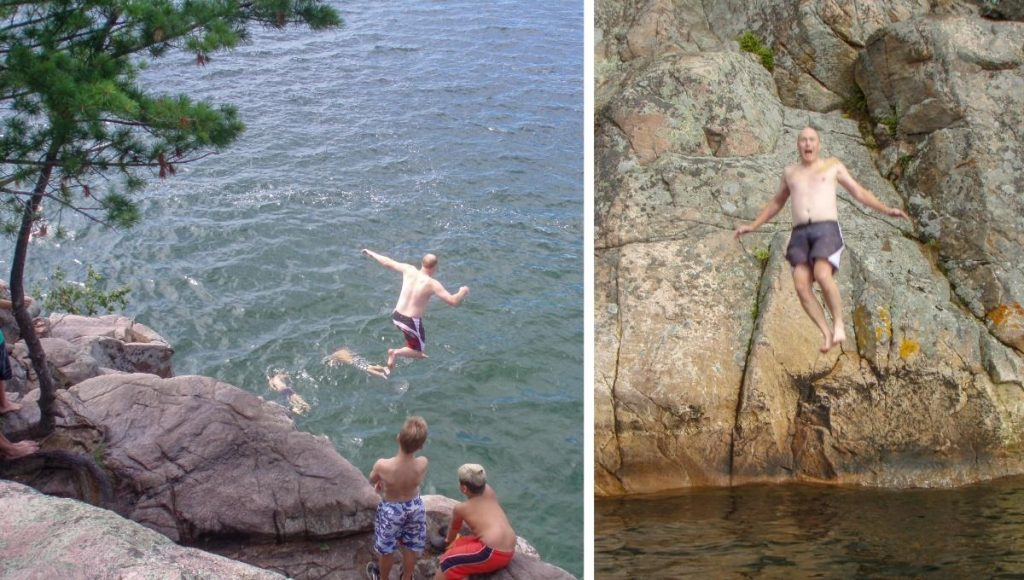 Killbear Provincial Park Cliff Jumping