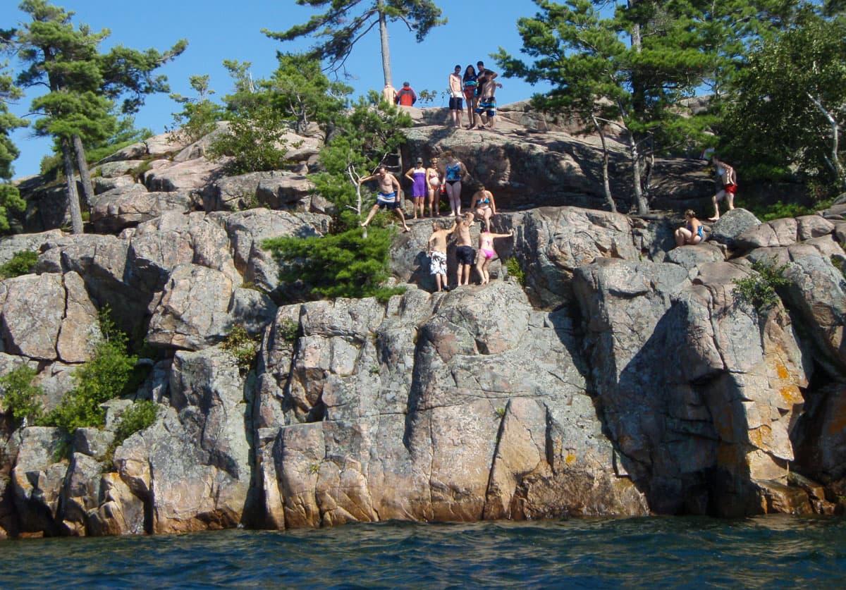 Cliff Jumping at Harold Point Rocks
