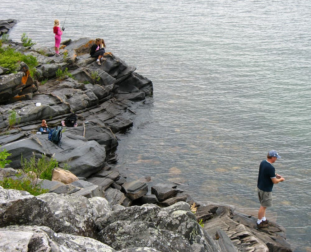 Killbear - Fishing at Lighthouse Point