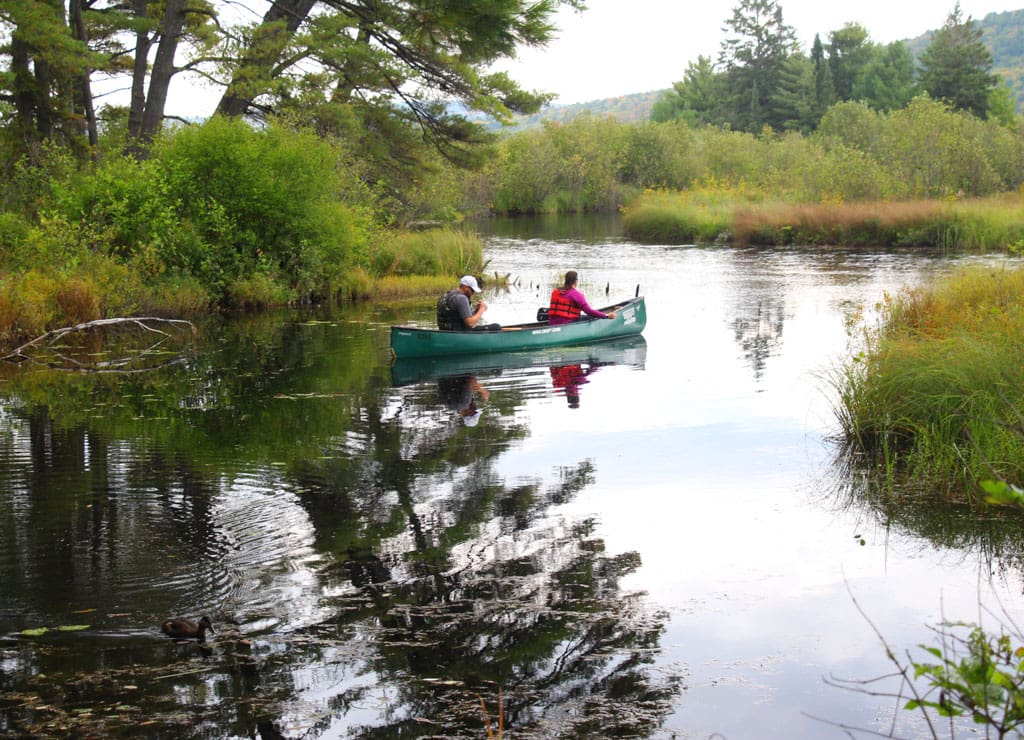 Couple in canoe on North Madawaska River