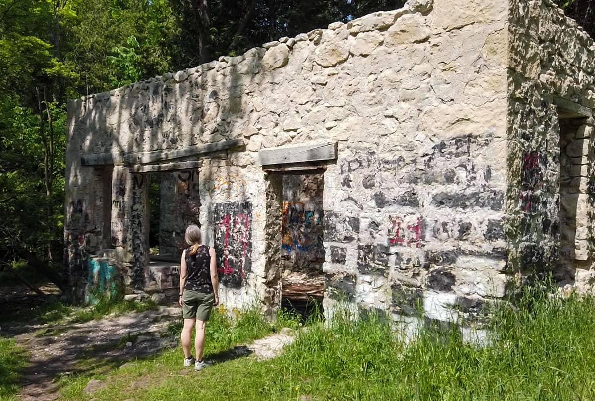 Person powerhouse Eugenia Falls Conservation Area