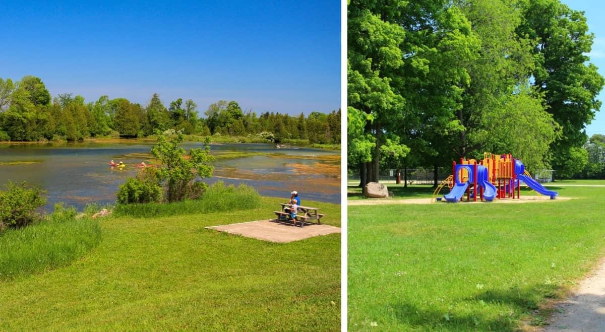 Millpond playground equipment Jubilee Park Holstein Ontario