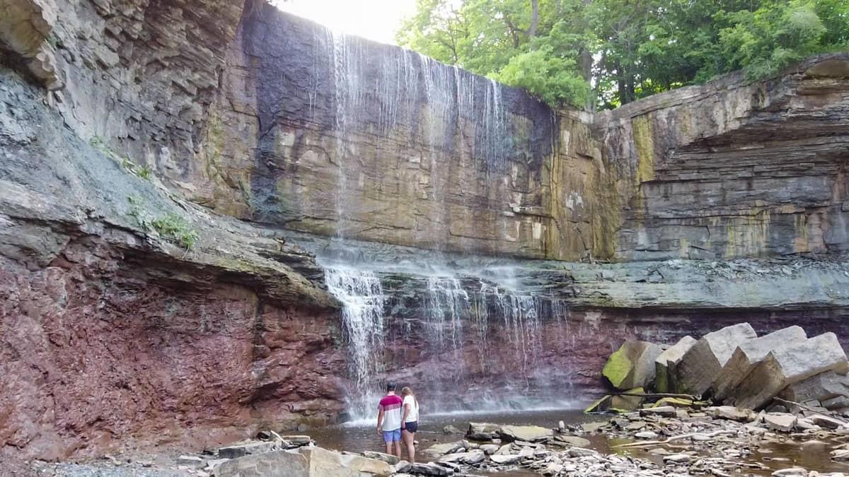 Base of Indian Falls Ontario