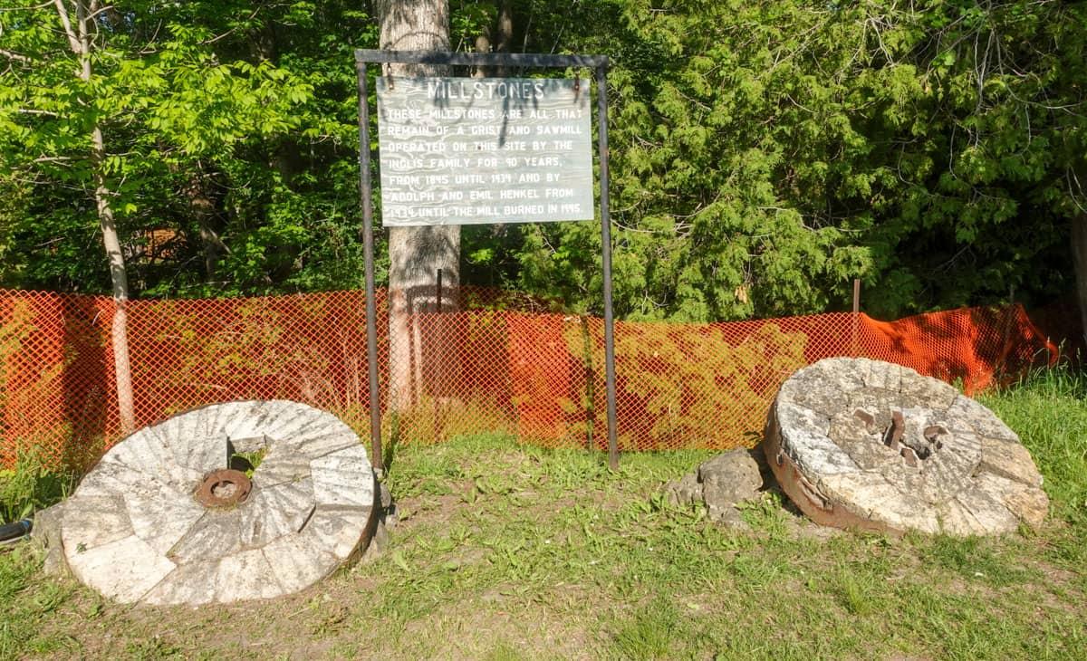 Two millstones Inglis Falls Ontario