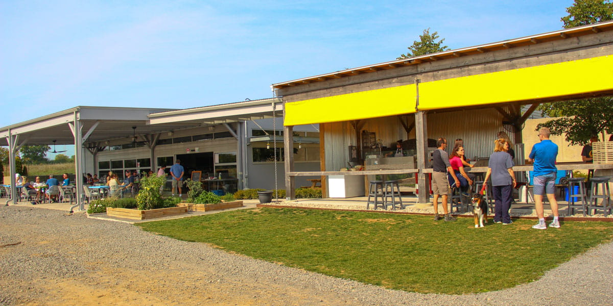 Huff Estates Winery - The tasting Area and Patio