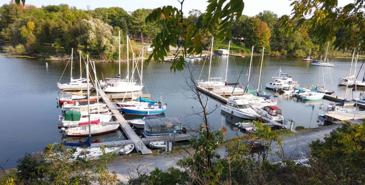 Boats moored in Picton Harbour Prince Edward County