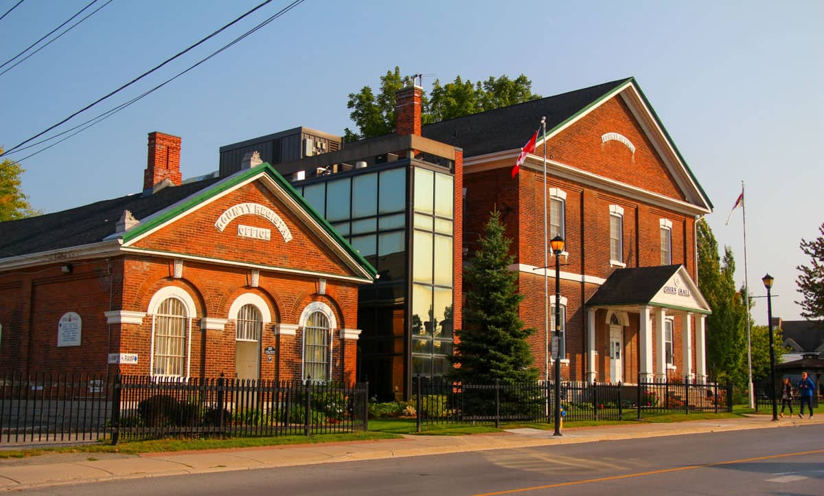 Reistry Office and Shire Hall Picton Ontario