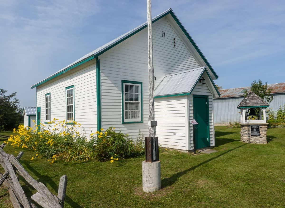 Schoolhouse Ameliasburgh Heritage Village Prince Edward County