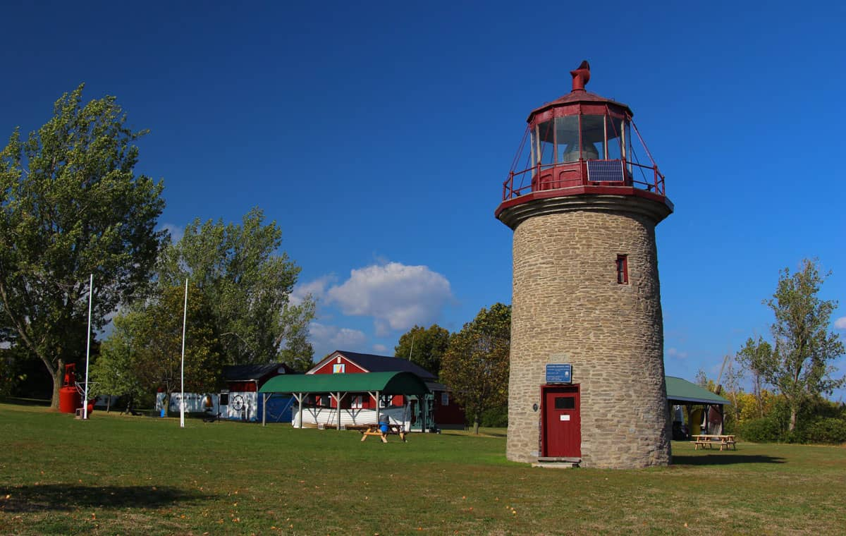 Stone lighthouse buildings of Mariners Park Museum