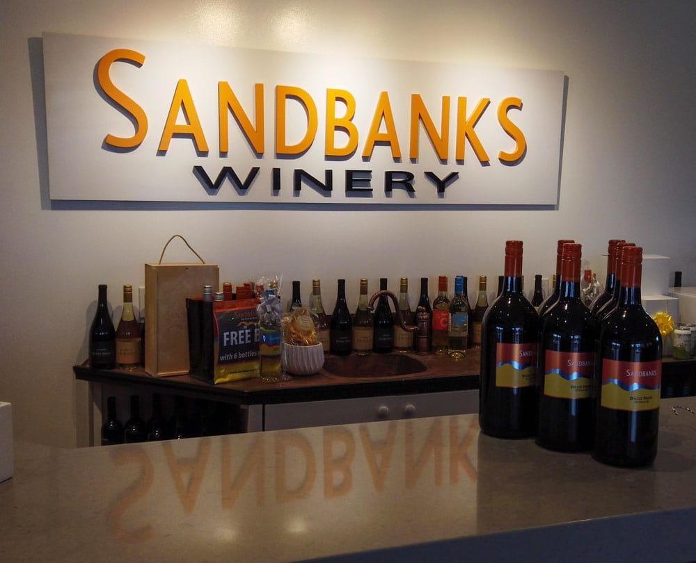 Inside Sandbanks Winery