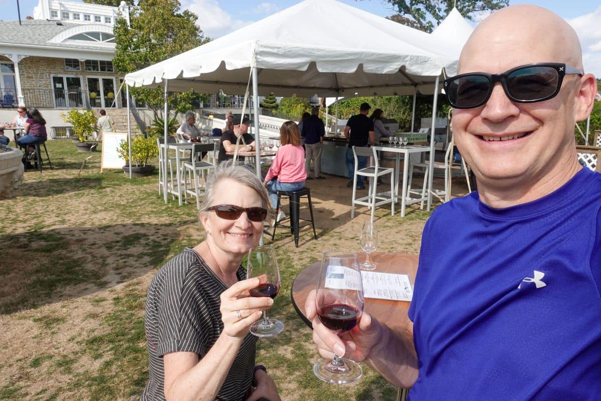 Enjoying the tasting bar at Waupoos Estates Winery