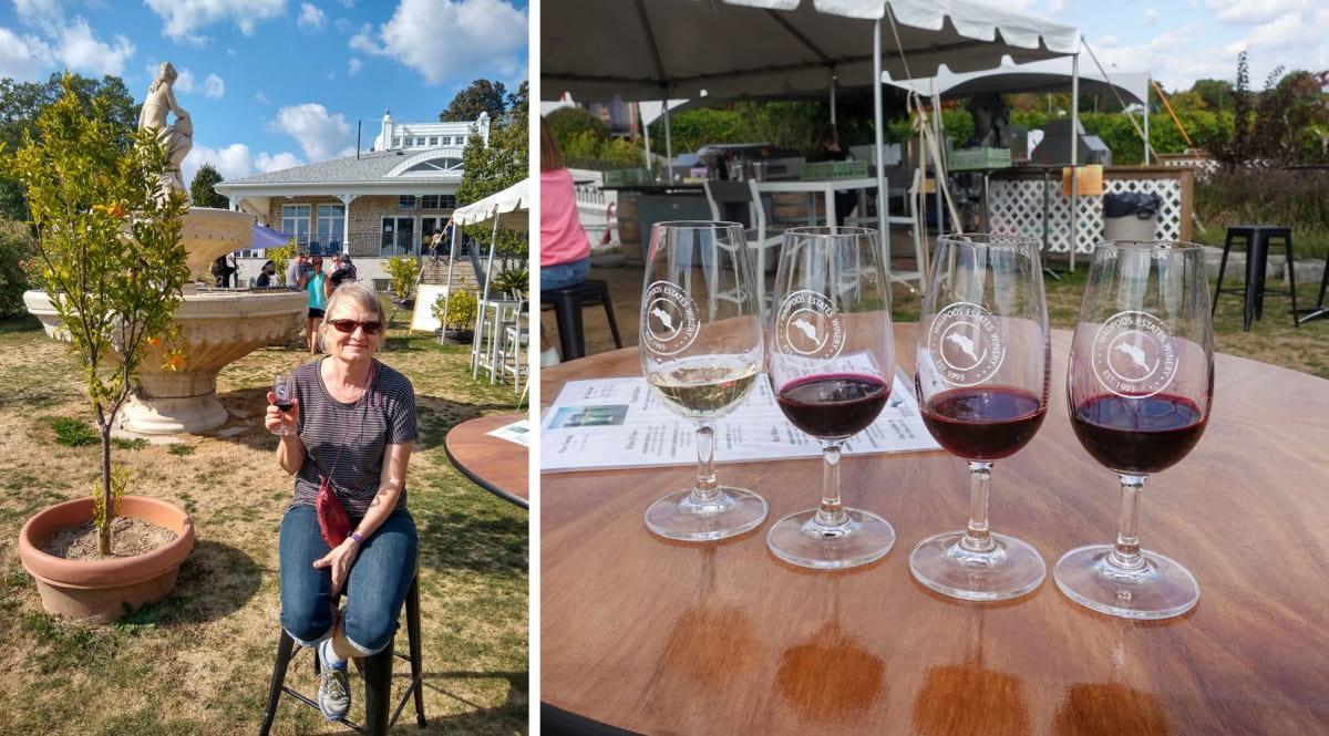 Outdoor tasting bar at Waupoos Estates Winery