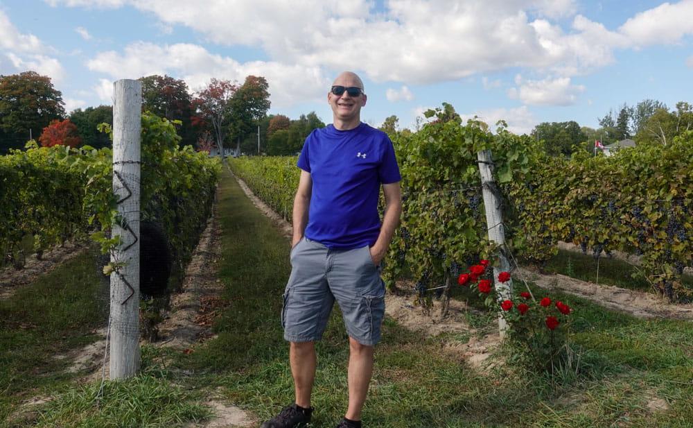 Walking the Vineyards at Waupoos Estates Winery