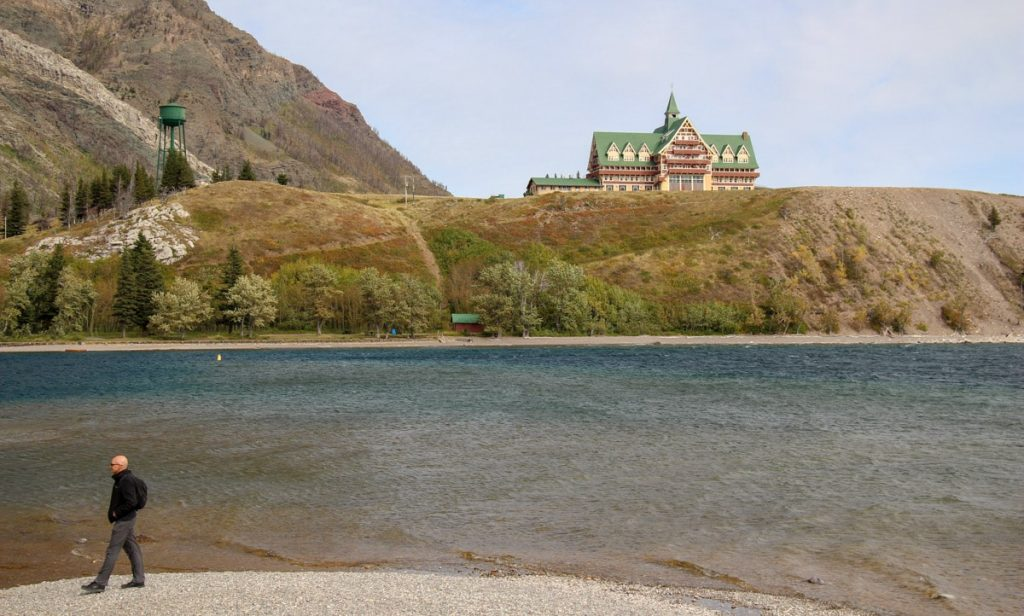 Prince of Wales Hotel from Waterton townsite