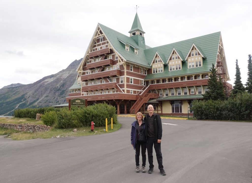 Front of Prince of Wales Hotel Waterton Lakes