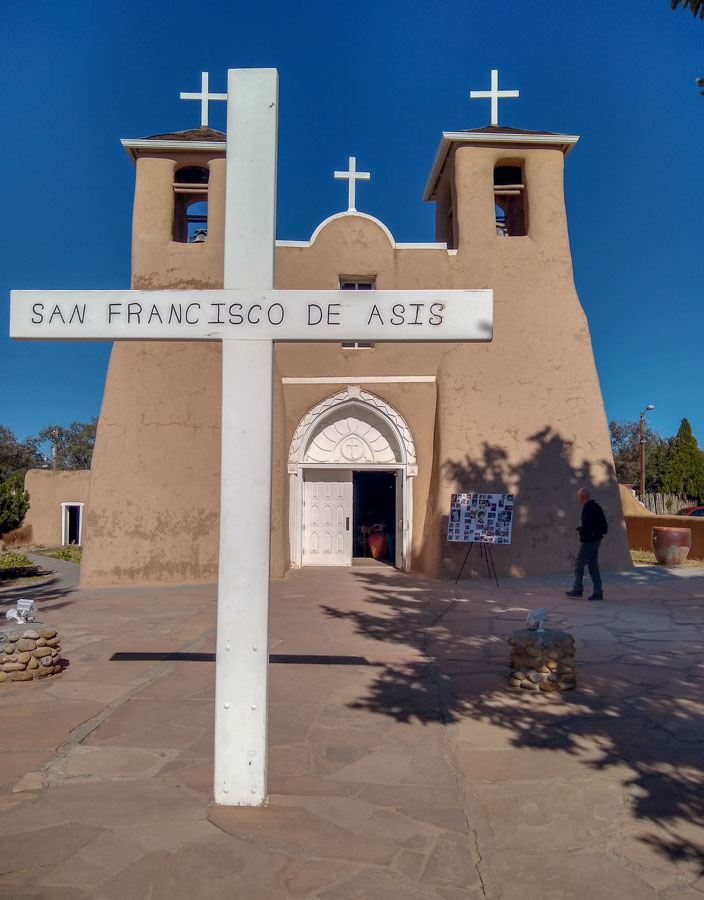 San Franisco de Asis church in Taos area