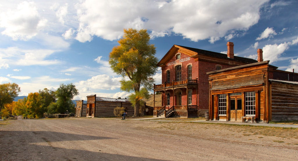 Buildings along Bannack Main Street