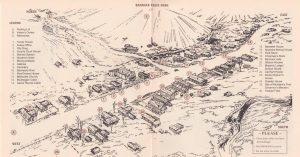 Site Map from Bannack State Park brochure