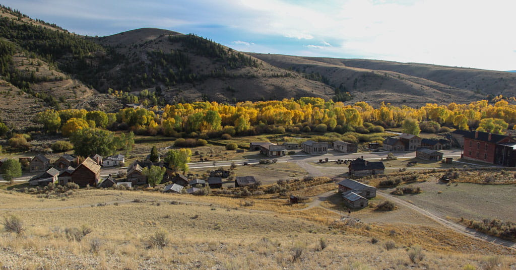 Bannack Ghost Town from above