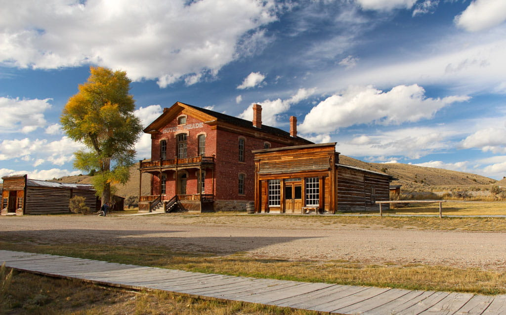 Hotel Meade and Skinner Saloon Main Street Bannack