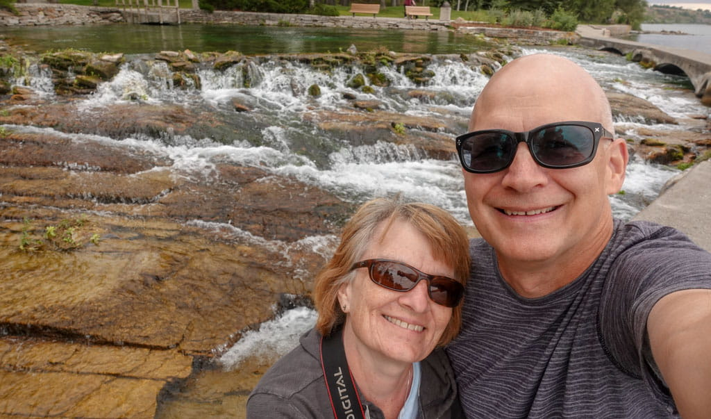 Couple in front of Giant Springs Great Falls Montana