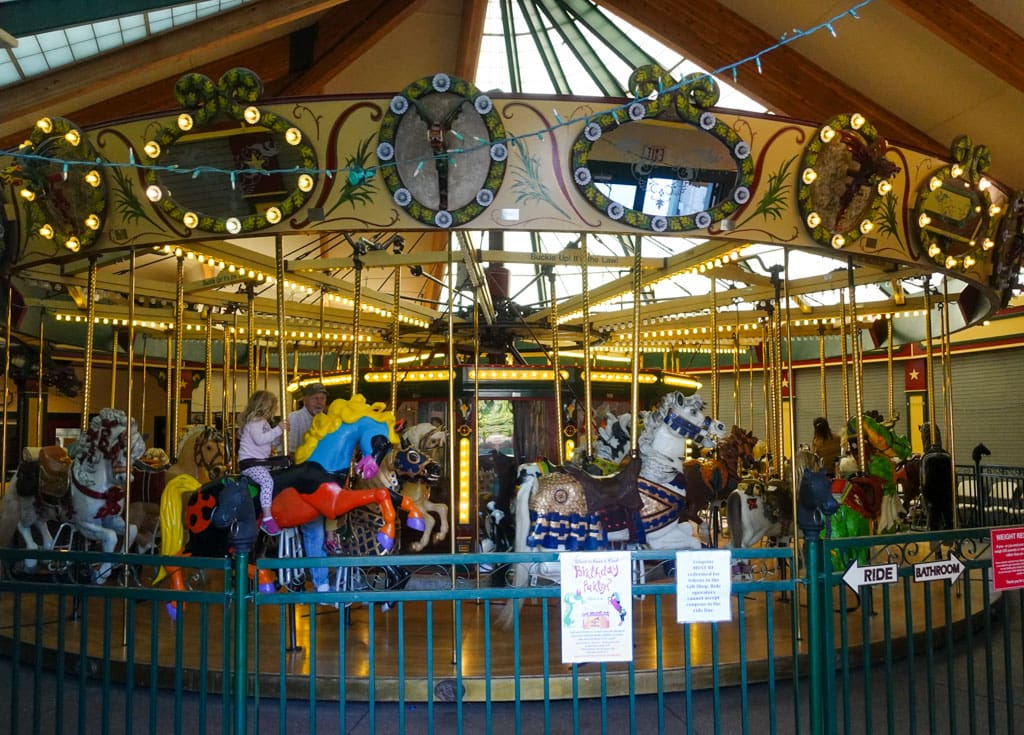 Riders on antique Carousel Missoula