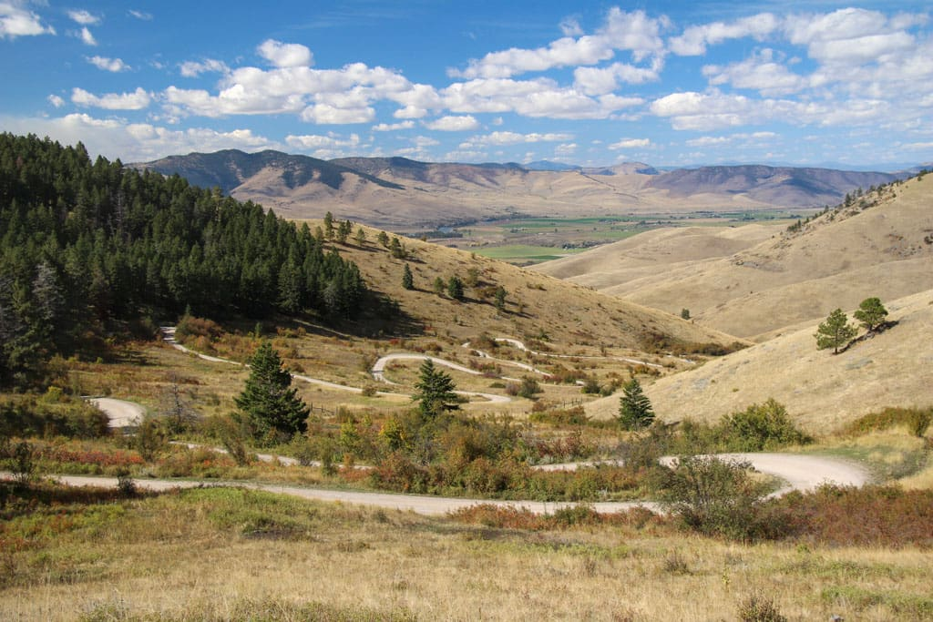 Switchbacks on road in National Bison Range