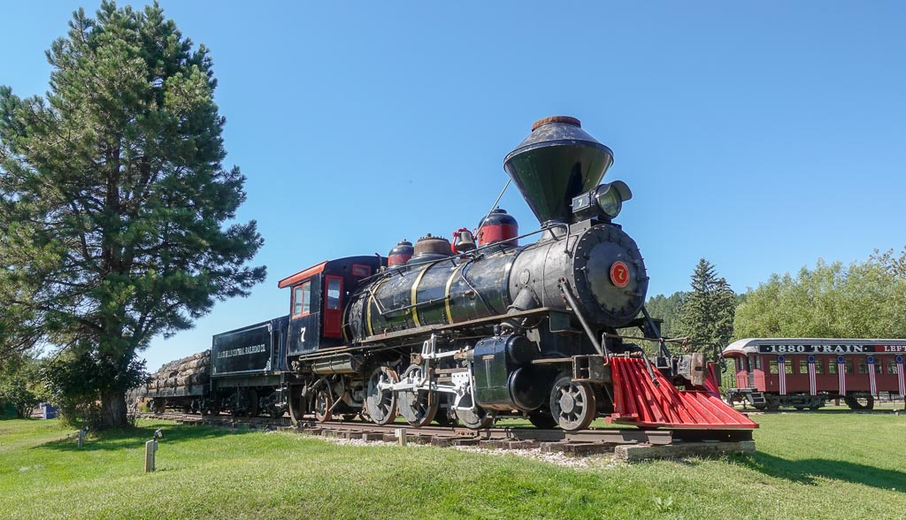 Steam Engine Rail Cars Hill City Black Hills Central Railway