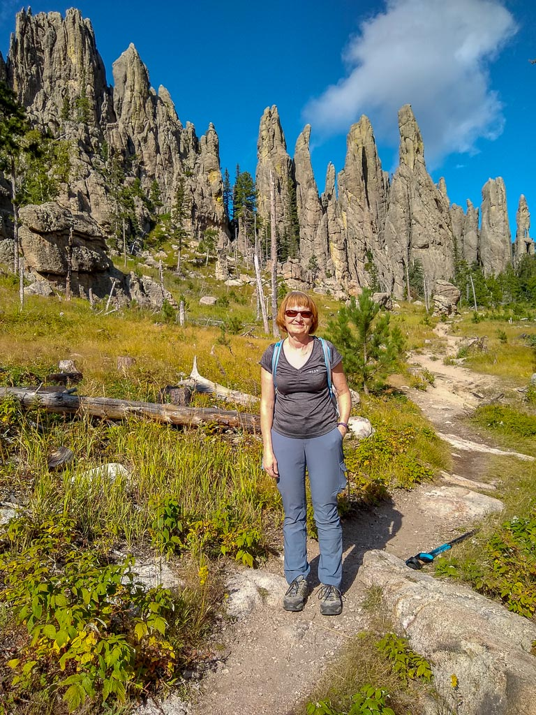 Hiking on Cathedral Spires Trail