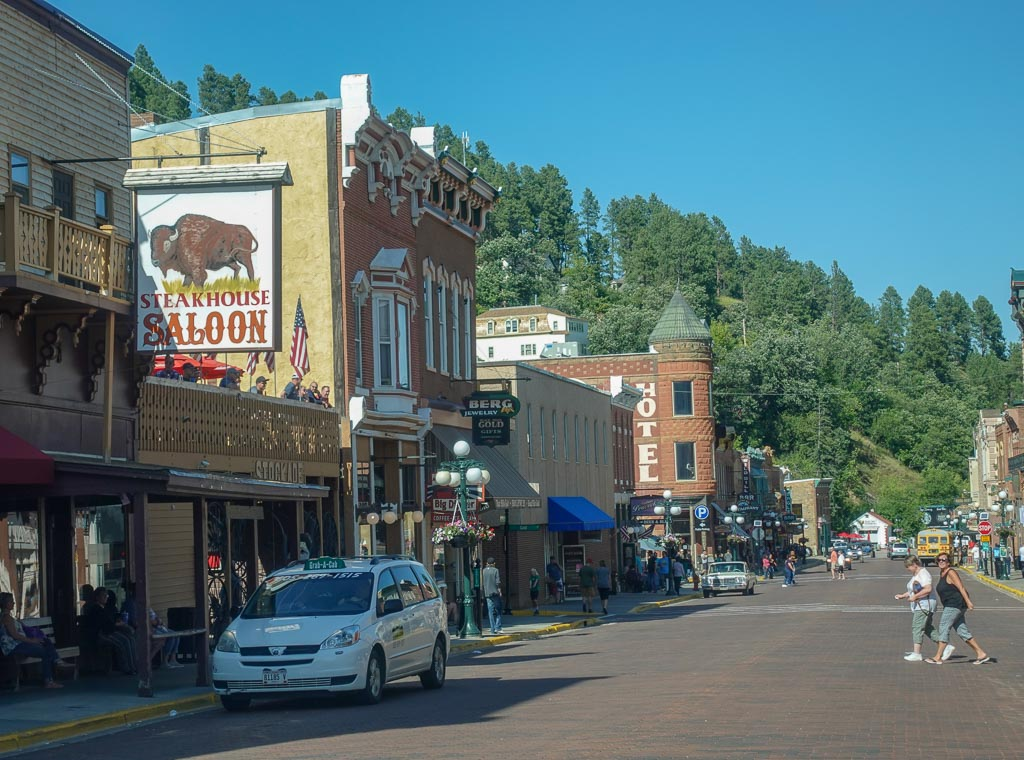 Downtown streetscape Deadwood