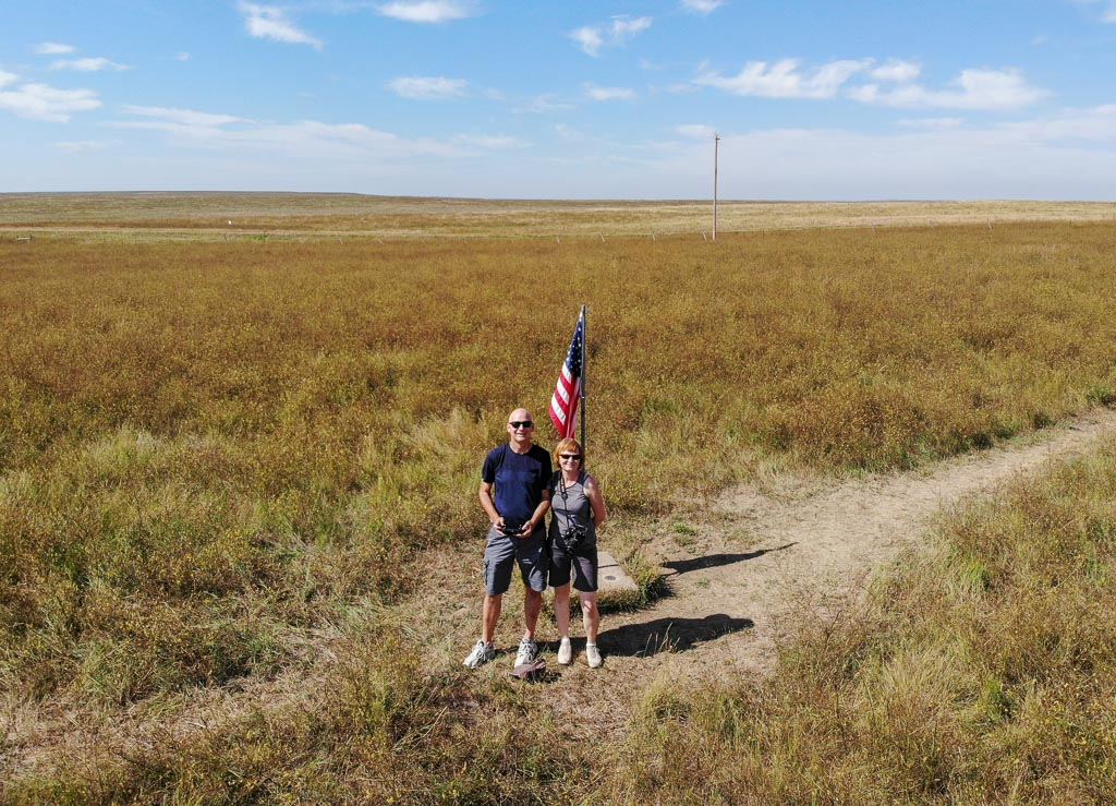 Standing at the actual Geographic center of the USA, 20 miles NW of Belle Fourche