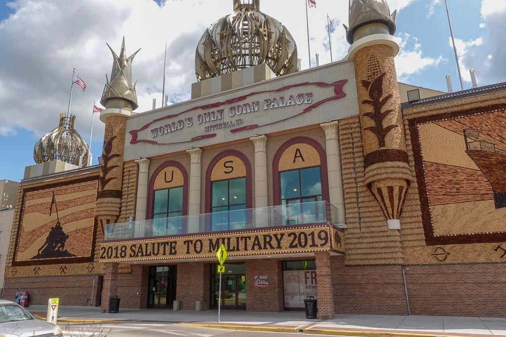 Outside of Corn Palace at Mitchell