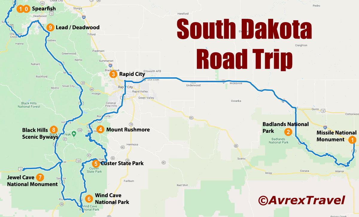 South Dakota One Week Road Trip Attractions
