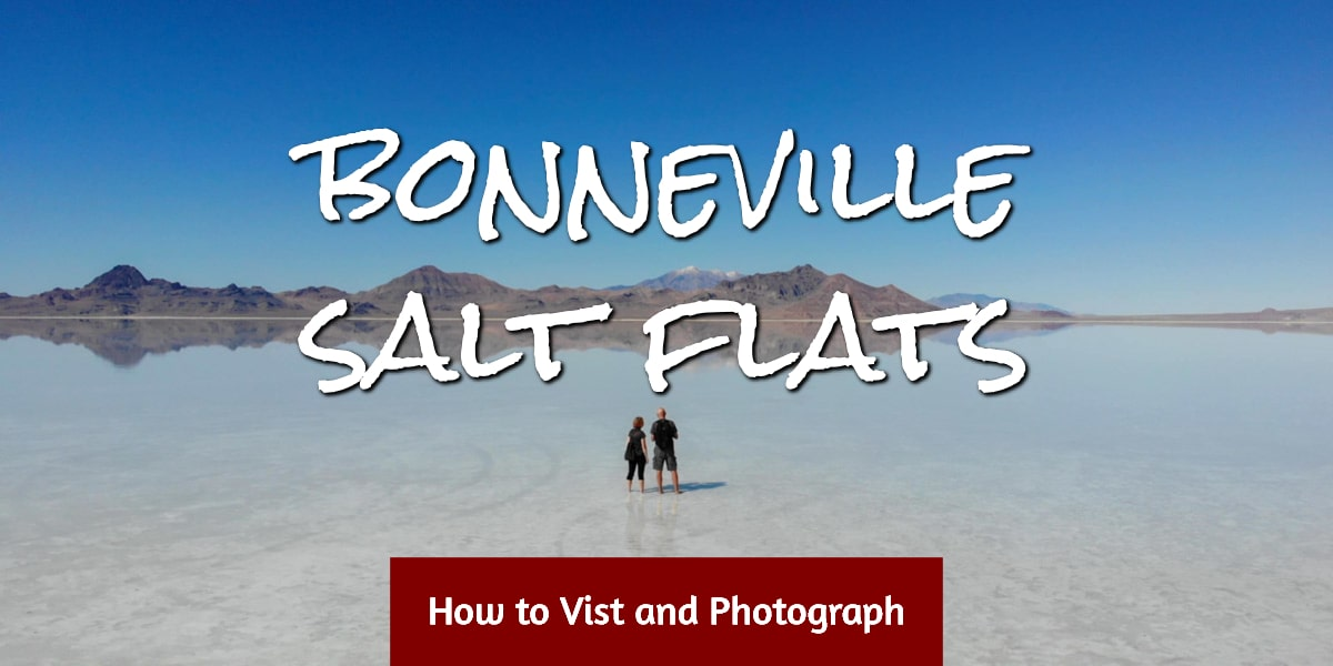 Couple on Bonneville Salt Flats