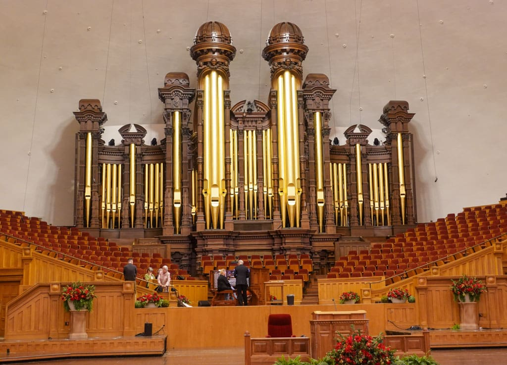 Choir loft organ Salt Lake City Tabernacle