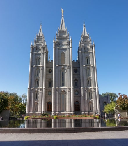 Salt Lake City Temple and reflecting pool