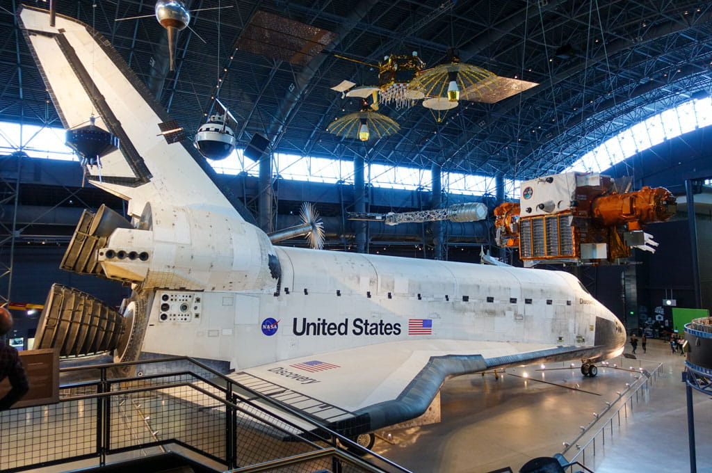Space shuttle Discovery Udvar-Hazy Center