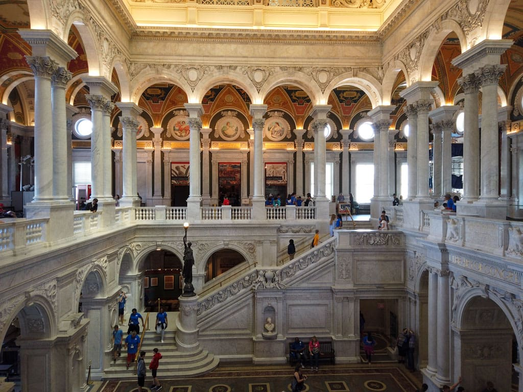 2 level view of Great Hall Library of Congress