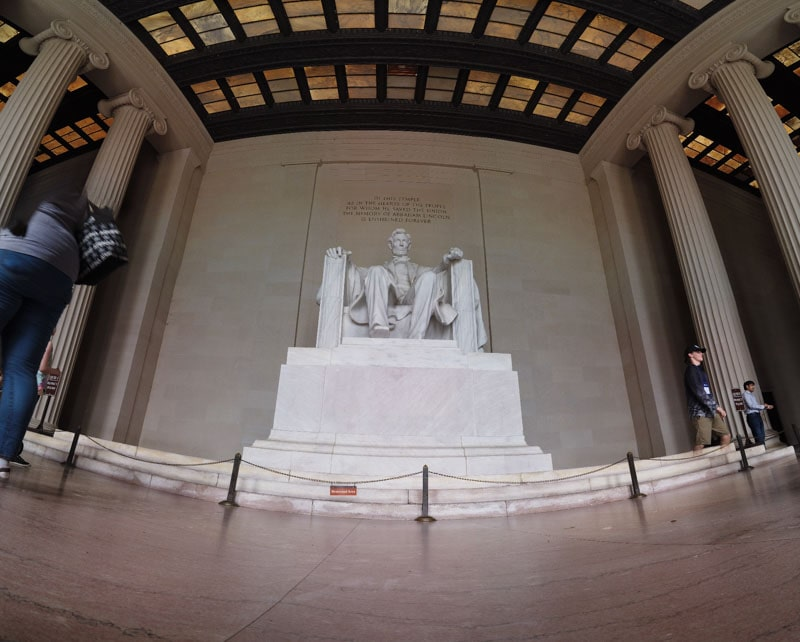 Seated Lincoln statue in Lincoln Memorial