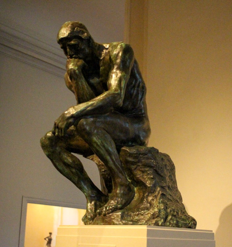 Bronze cast Rodin's Thinker National Art Gallery