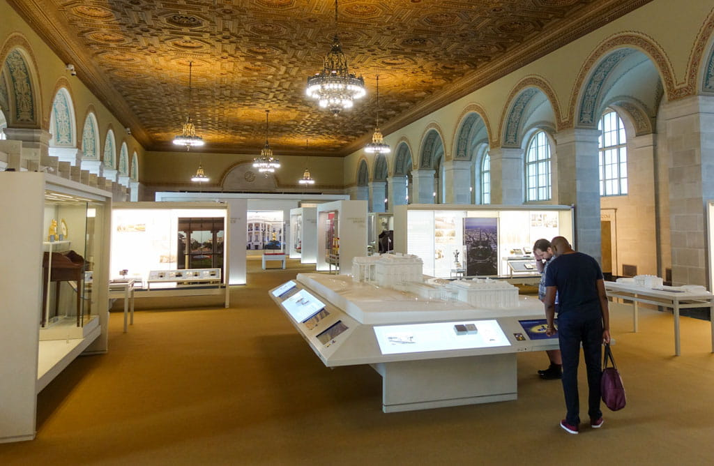 Displays in the White House Visitor Center