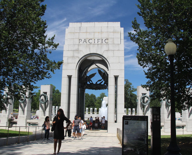 Pacific Gate World War II Memorial Washington DC