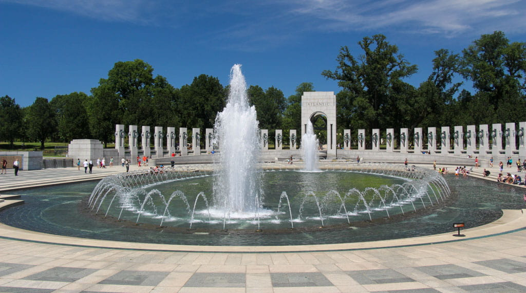 Fountains World War II Memorial Washington DC