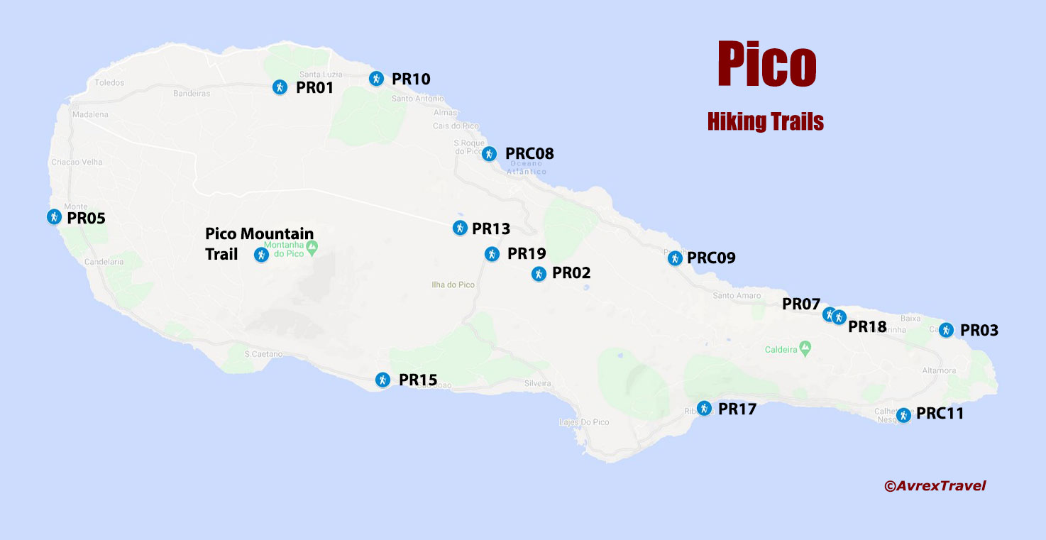 Azores Hiking - Pico Map