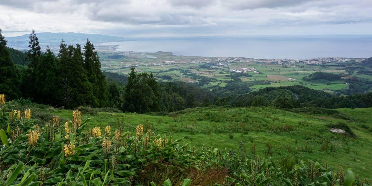 North coast and fields from Miradouro da Bela Vista