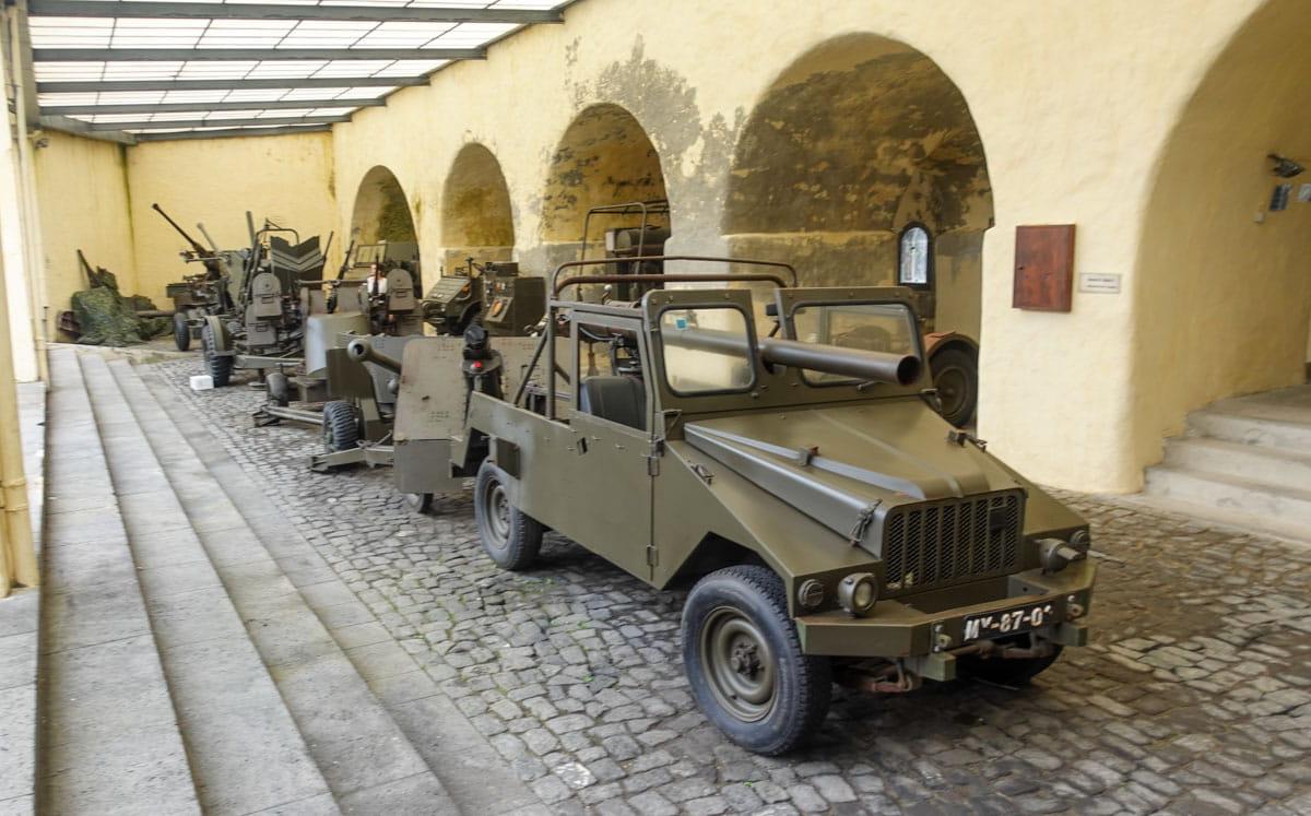 Military vehicles Ponta Delgada Azores' Military Museum