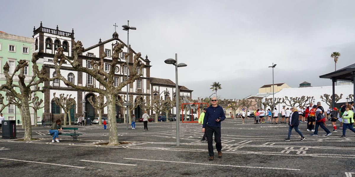 People in Campo de Sao Francisco Ponta Delgada