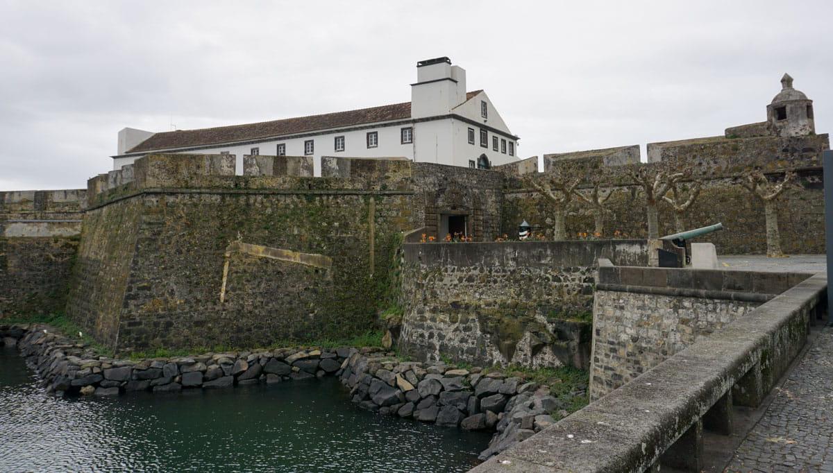 Stone walls Fortress Sao Bras Ponta Delgada