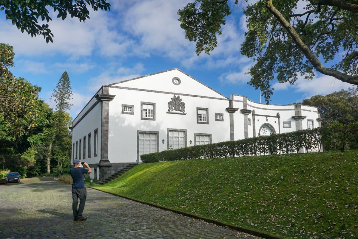 Man taking photo Jose do Canto Palace